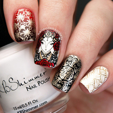 Chinese New Year Nails nail art by Emiline Harris