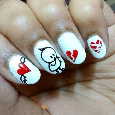 Heart Break..!!! nail art by Sohini  Sengupta