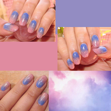 Quartz&Serenity Sky nail art by DeadCellCanvases