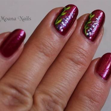 Glam fleuri nail art by MoanaNails