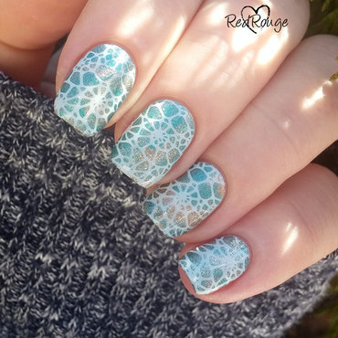 Sea shells nail art by RedRouge
