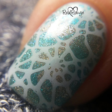 Sea shells macro nail art by RedRouge