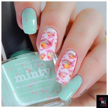Ribons nail art by Love Nails Etc