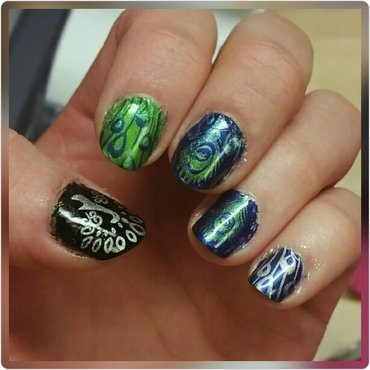 Peacock  nail art by truhero