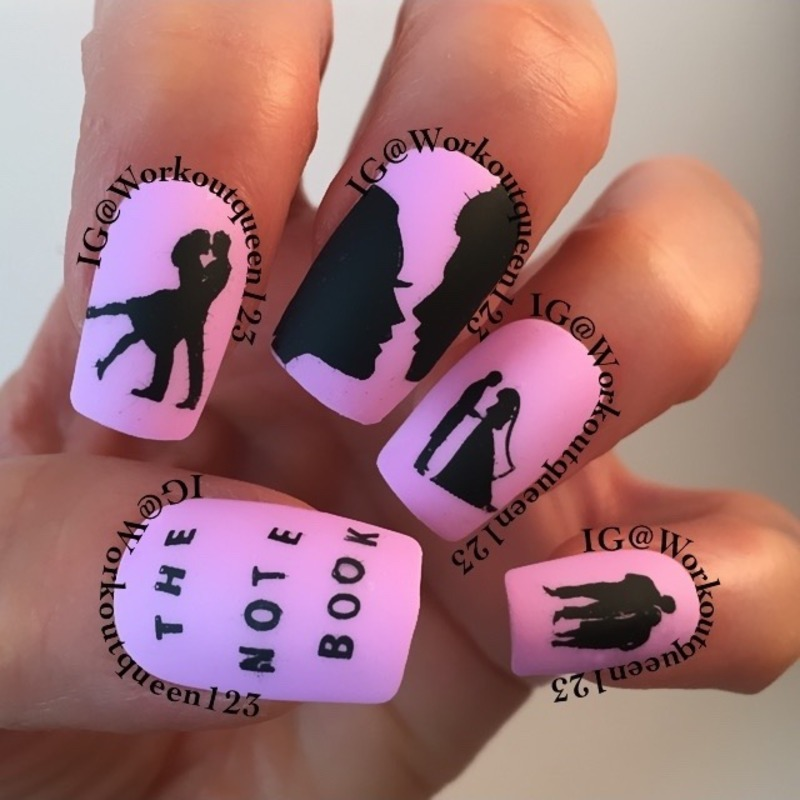 The Note Book Mani nail art by Workoutqueen123