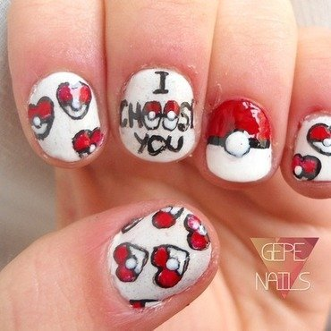 I CHOOSE YOU nail art by GepeNails
