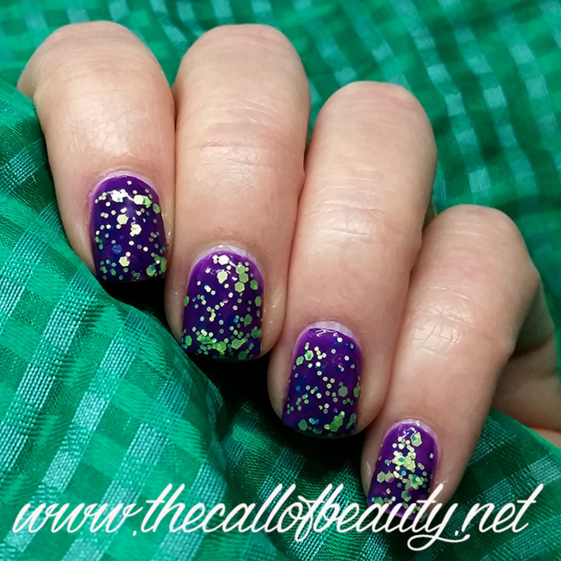 Glitter Layering nail art by The Call of Beauty