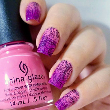 Pink Nails nail art by Natasha