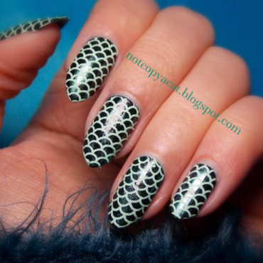 Mysterious mermaid nail art by notcopyacat