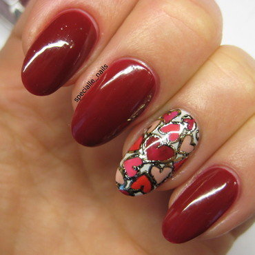 Valentine Day nail art by specialle