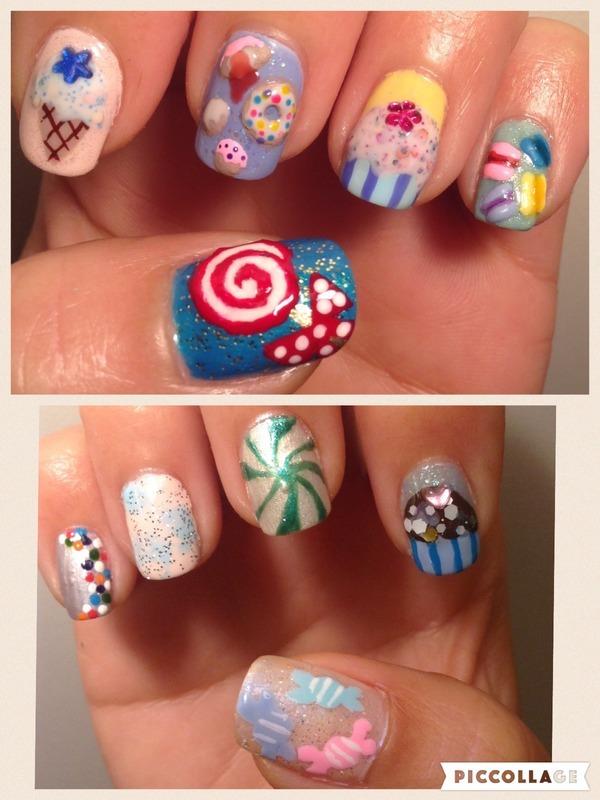 Sweet Toof nail art by Idreaminpolish