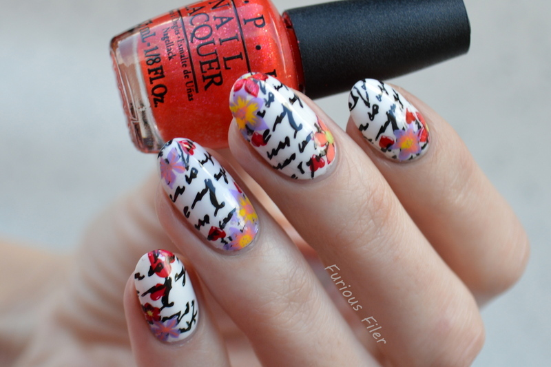 Love Letter  nail art by Furious Filer