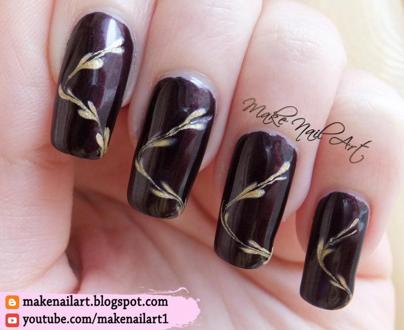 Gold Hearts Nail Art Design nail art by Make Nail Art