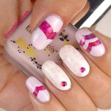 Nails with a heart ...oops, two hearts!  nail art by Meltin'polish