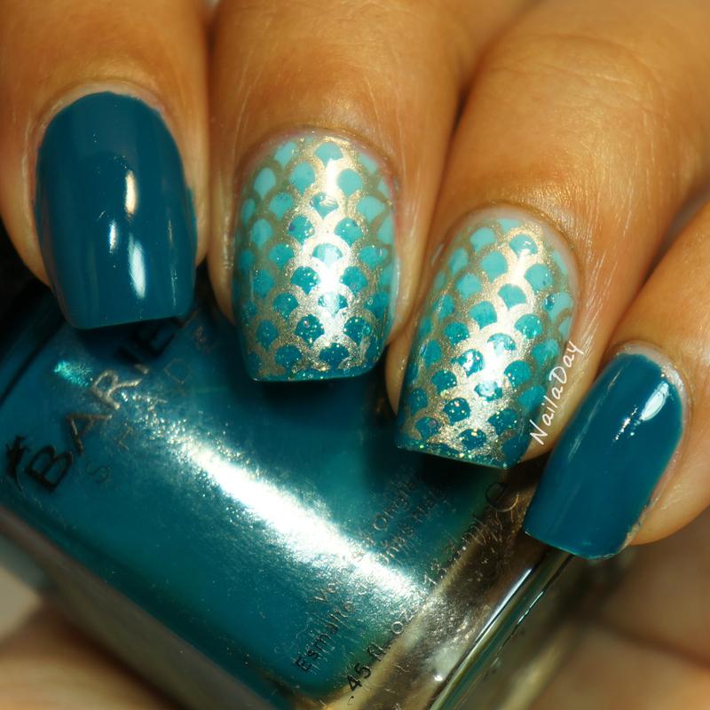 Mermaid Nails nail art by Nailaday