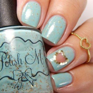 Minty valentinr nail art by Moni'sMani
