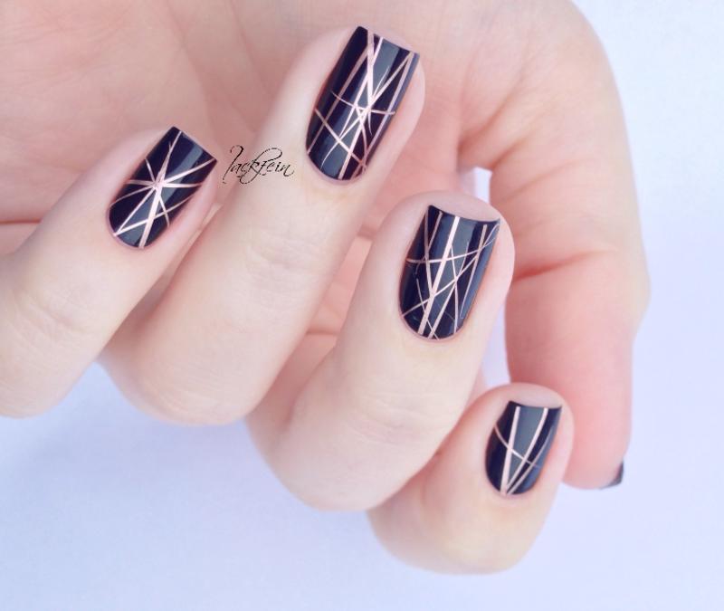 Copper nail art by lackfein