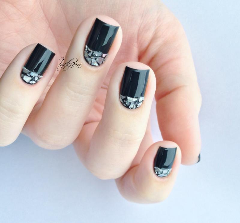 Shattered Glass nail art by lackfein