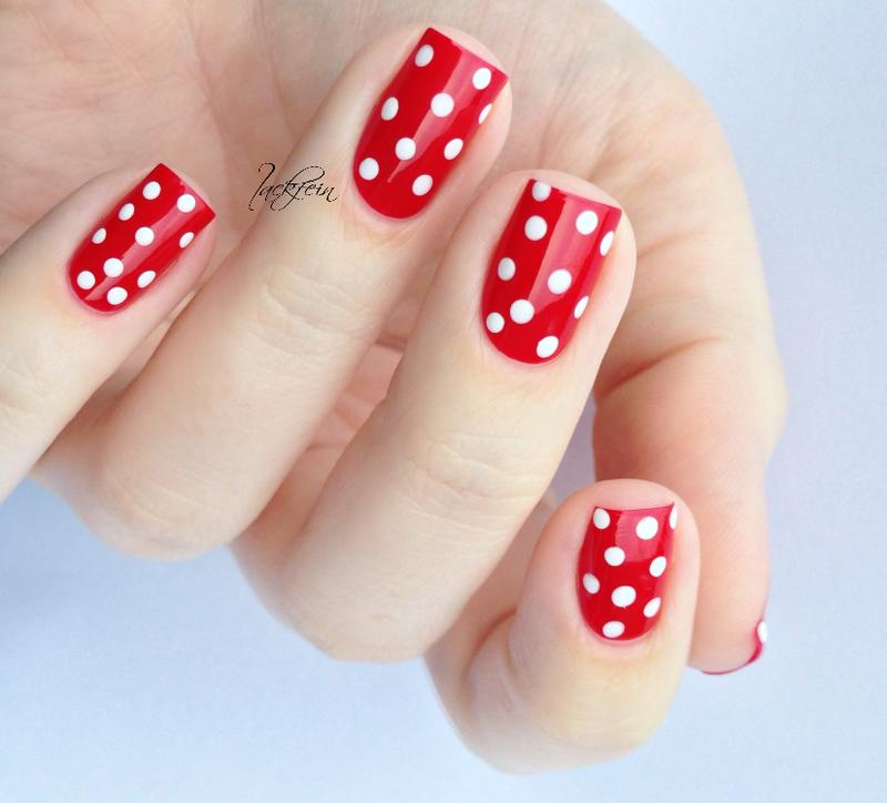 Polka Dots nail art by lackfein