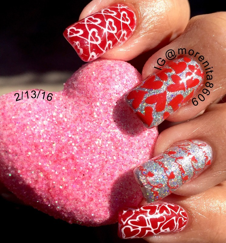 Valentine's Nails nail art by Morenita  Morena