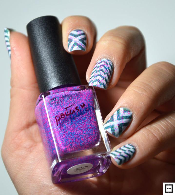 Stamping mix  nail art by Sweapee