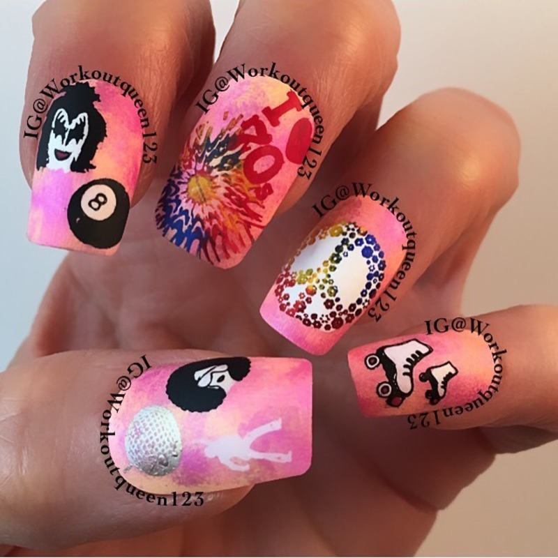 Who loves the 70's nail art by Workoutqueen123