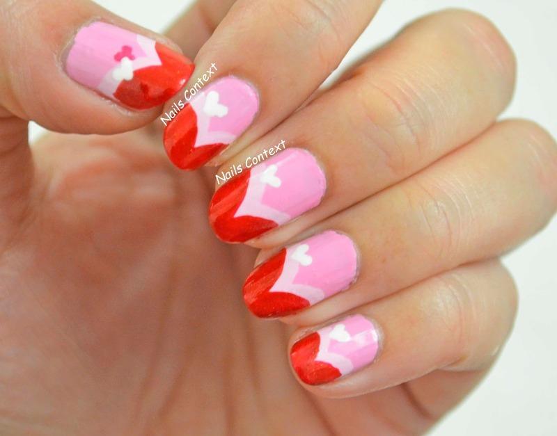 Valentines  Day 2016 nail art by NailsContext