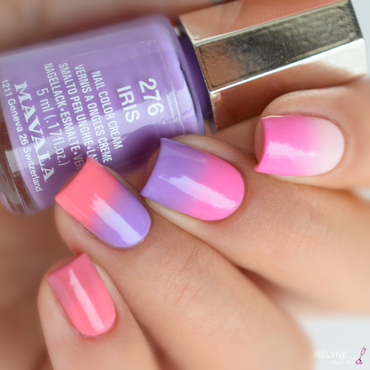 Gradient Mavala nail art by melyne nailart