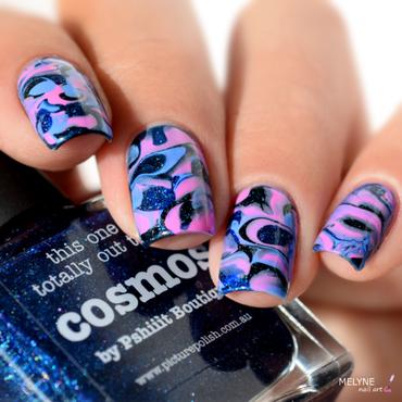 Cosmos Nail art nail art by melyne nailart