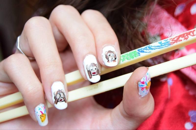 Chinese New Year : Year of the monkey nail art by i-am-nail-art