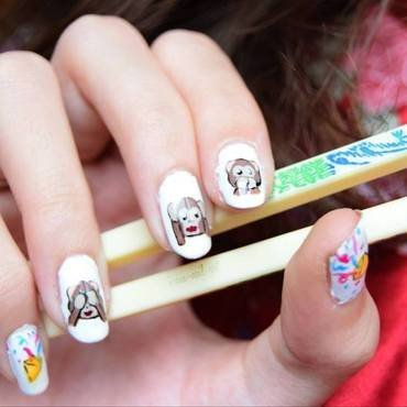 Chinese New Year : Year of the monkey nail art by i-am-nail-art