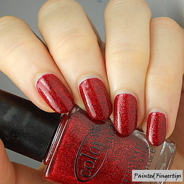 Color Club Ruby Slippers Swatch by Kerry_Fingertips