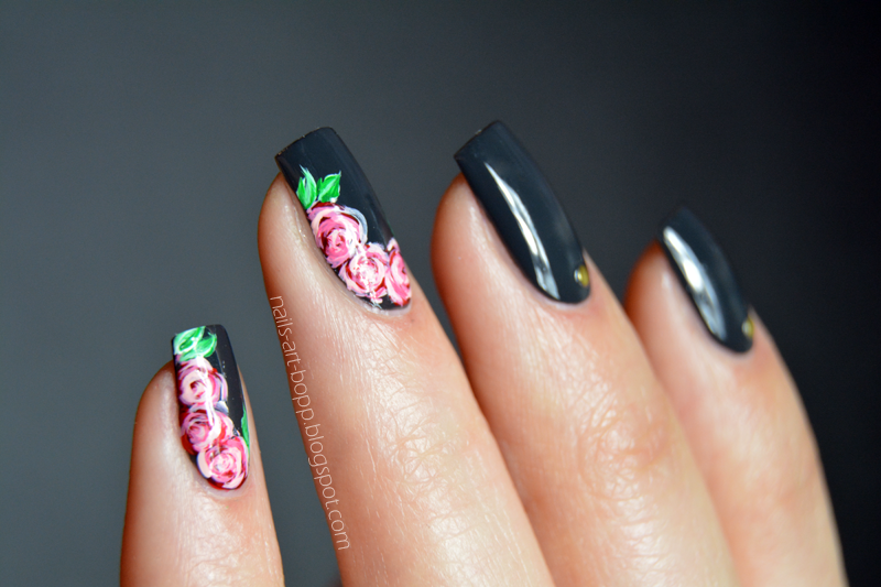 Flowers with Sophin nail art by bopp