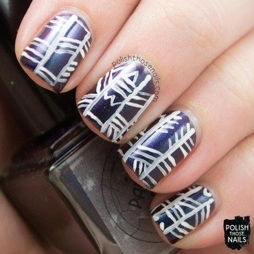 Parallax polish biomimicry black duochrome tribal nail art 3 thumb370f