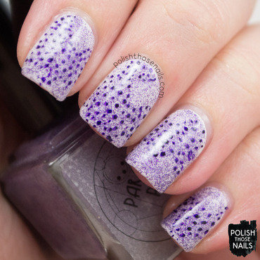 Parallax polish coral reef purple microglitter polka dot nail art 3 thumb370f