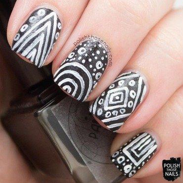 Parallax polish challenger deep matte texture black tribal nail art 3 thumb370f