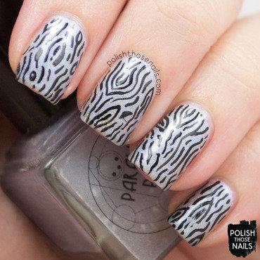 Parallax polish artic ice pale blue holo pattern nail art 3 thumb370f