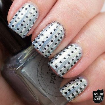 Parallax polish 3.5 degree blue holo stripe polka dot nail art 3 thumb370f