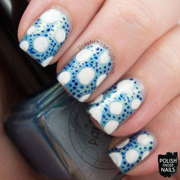 Parallax polish gulf stream teal holo polka dot nail art 3 thumb370f