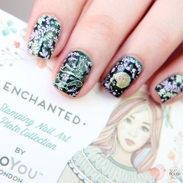 Enchanted Forest nail art by Annika