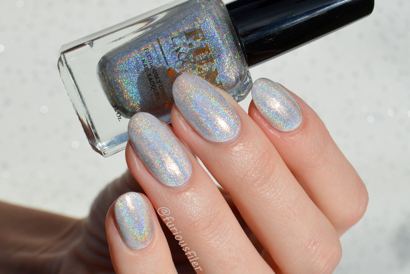 Holographic Heaven  nail art by Furious Filer