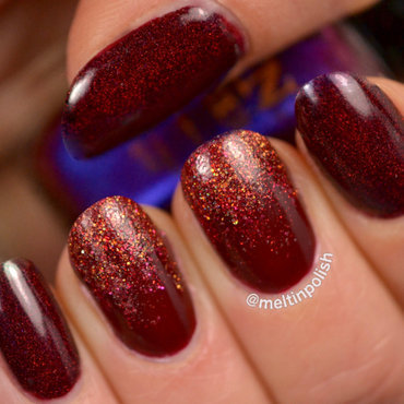Festive Red nail art by Meltin'polish