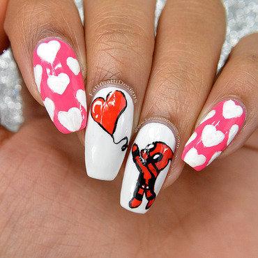 Deadpool Valentine nail art by Fatimah
