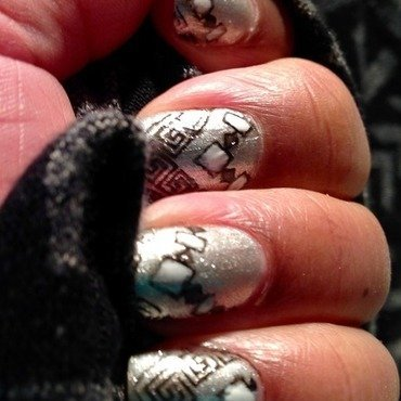 Tribal meet Art Deco nail art by cNewman
