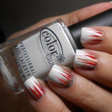 Christmas Fringe nail art by Ilana Coelho