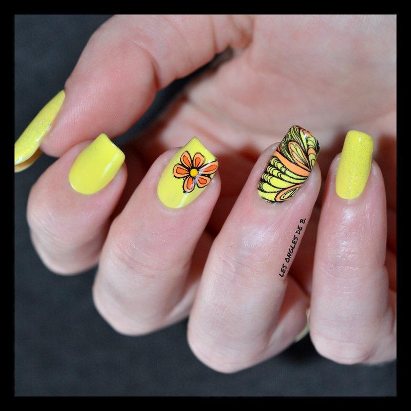 Spring nail art by Les ongles de B.