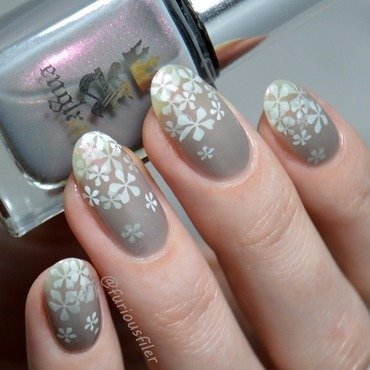 Floral Pond Design nail art by Furious Filer