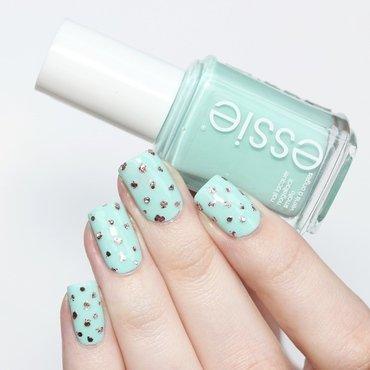 Princess Dots nail art by Annika