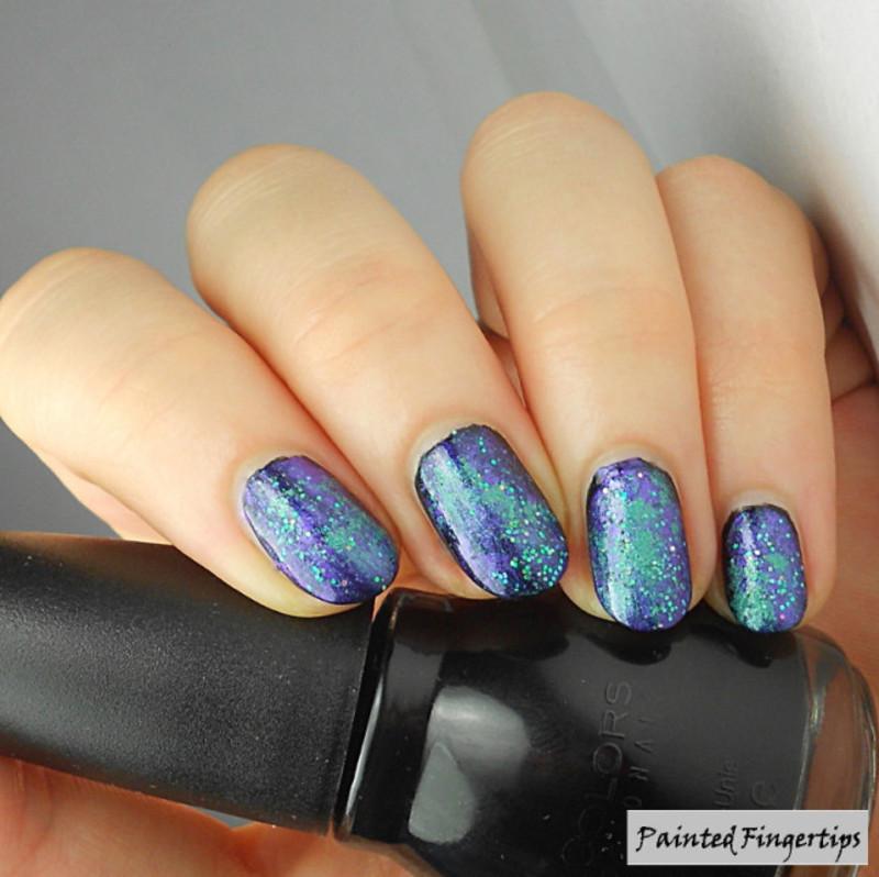 Eye shadow galaxy nails nail art by Kerry_Fingertips - Nailpolis ...