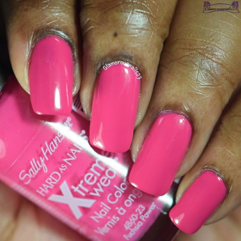 Sally Hansen Xtreme Wear Fuchsia Power Swatch By